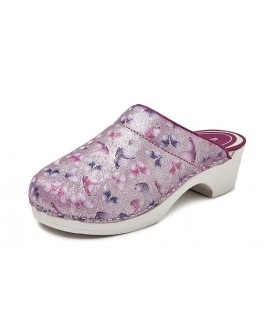 LAST CHANCE: size 37 Bighorn Butterfly Pink PU