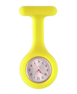 Montre Infirmière Standard Silicone Jaune