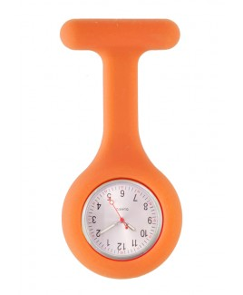Montre Infirmière Standard Silicone Orange