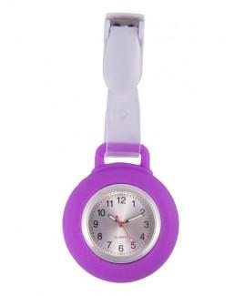 Montre Infirmière Clip Silicone Violet