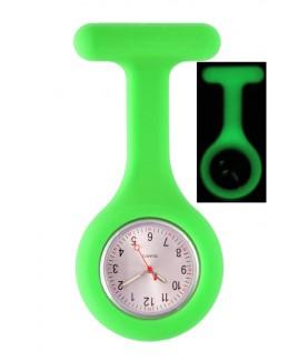 Montre Infirmière en Silicone Luminescente Vert