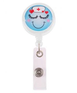 Porte Badge Enrouleur Lovely Nurse