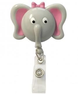 Porte Badge Enrouleur Éléphant