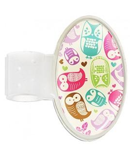 Badge Stéthoscope Owl Cream